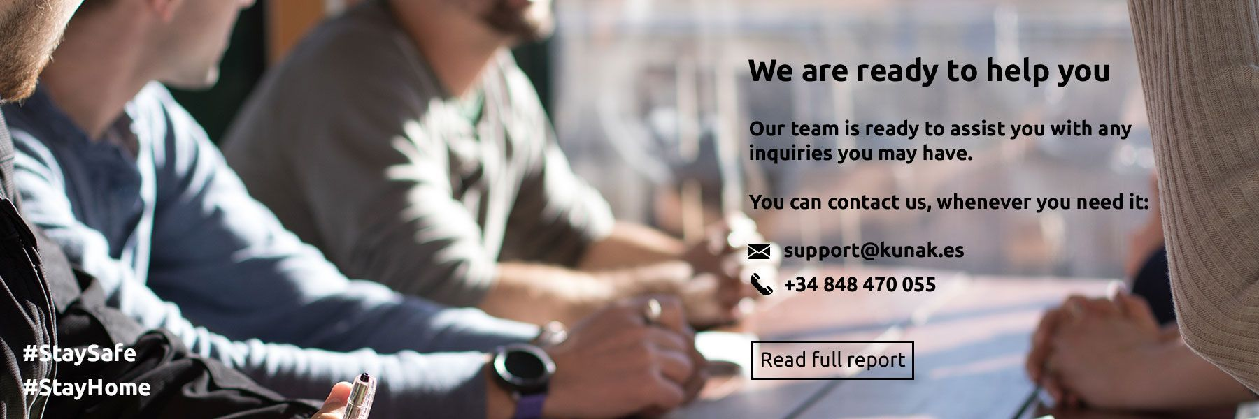 We are ready to help you