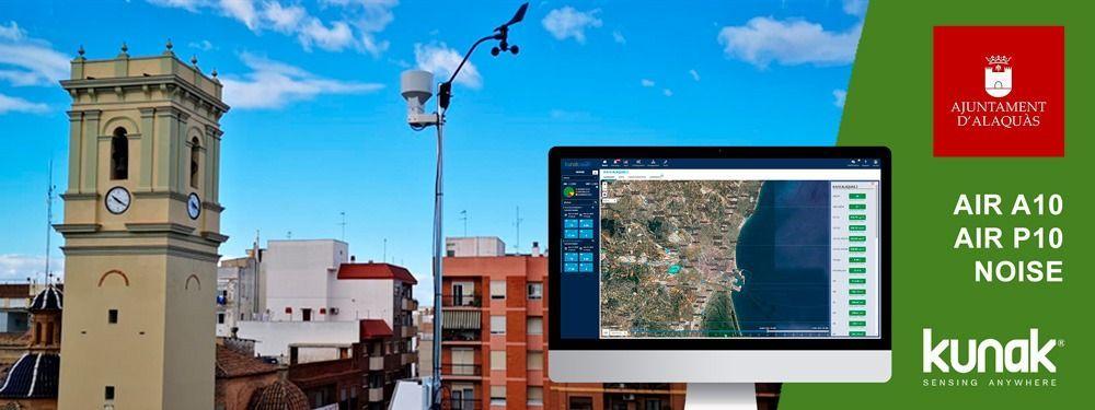Red de sensores de calidad del aire de Alaquàs (Valencia)
