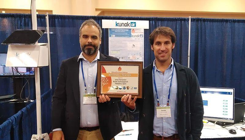 Kunak recibe mencion honorable US EPA Wildland Fire Sensors Challenge 2017