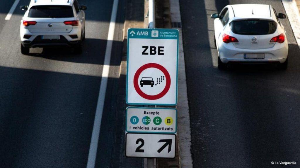 Low emission zones signal